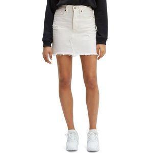 Levis High-Rise Deconstructed Skirt